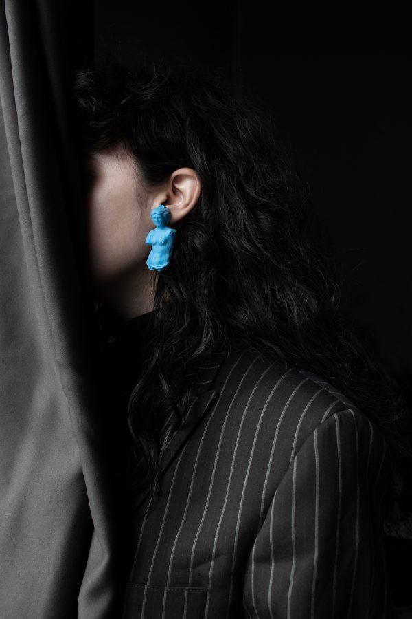 little earrings blue jewellery venus